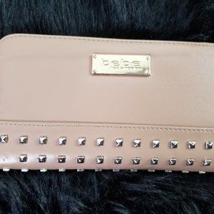 Studded Bebe wallet with matching coin bag